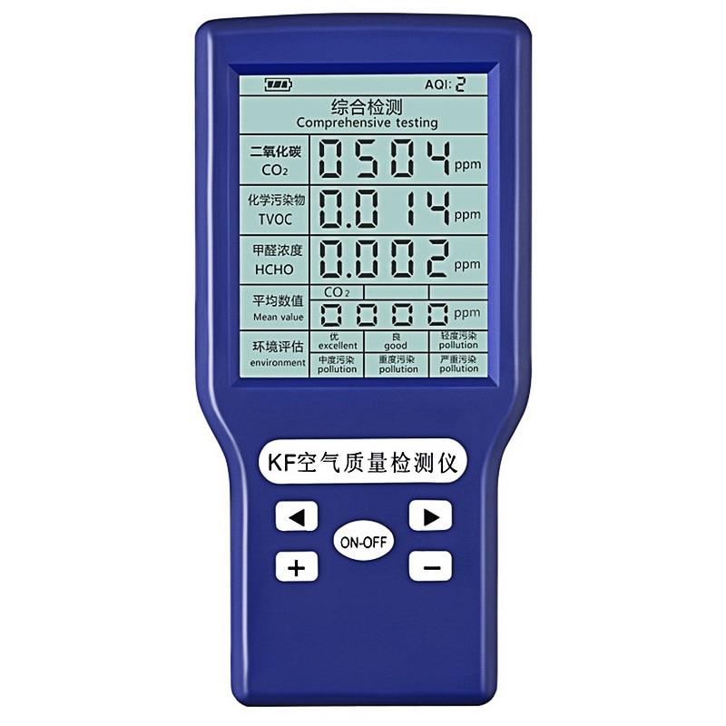 CO2 Sensor Air Quality Monitor 5 In 1 for Homes Formaldehyde TVOC HCHO AQI PPM Carbon Dioxide Gas Detector Gas Analyzer Meter