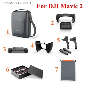 Image 1 - PGYTECH Combo Carrying Case Landing Gear Stick Cover Protector Lens Filter Propeller Holder For DJI MAVIC 2 Pro/Zoom Accessories