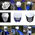 Белый синий Enduro MX двойной спортивный головной свет универсальная головная лампа для Yamaha YZ85 YZ125 YZ250 YZ450 WR250 WR450 F FX TTR TT-R 230