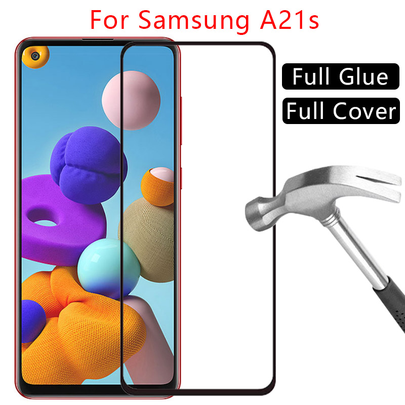 Case For Samsung A21s Cover Tempered Glass Screen Protector On Galaxy A 21S A21 S Protective Phone Coque Samsun Samsumg Sansung