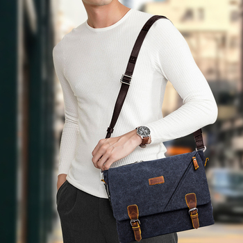 Scione Mens Messenger Bag Aktetas Vintage Canvas Schoudertassen Mode Crossbody Tassen Voor Mannen Tas