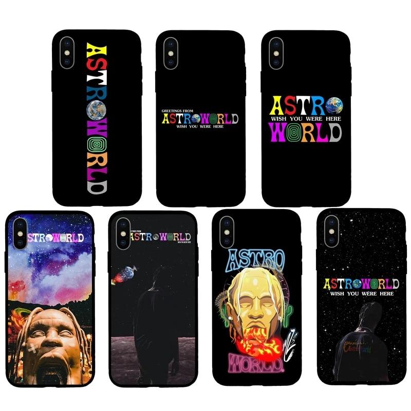 Travis Scott Phone Cases Astroworld Sicko Mode Soft Matte Silicone Case Coque For iPhone 11ProMaX 6S 5S 8 8Plus X 7 7Plus XS Max