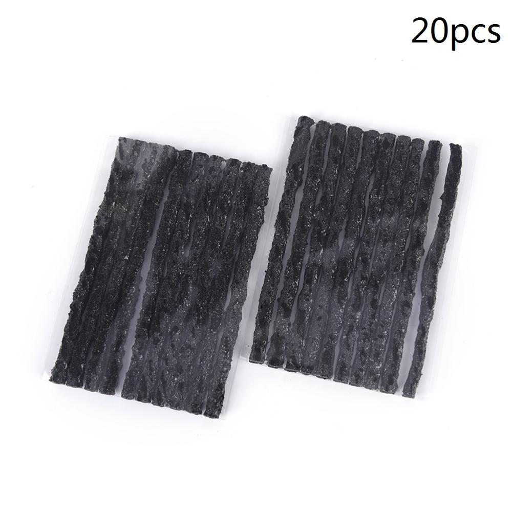 20x Black Universal Quick Tubeless Tire Tyre Puncture Repair Strips Plug Car Cycling Bicycle