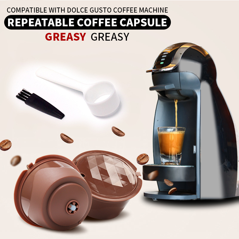 3PC Coffee Capsule New Plastic Compatible With Nestle Machine Accessories Environmental Protection Reusable Filter Core Filter