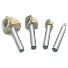 4Pcs 90 Degree V Groove Router Bit 2-Flute CNC Engraving Bit Woodworking Chamfer Bevel Cutter 1/4 Inch Shank Monden 1pc superior tungsten carbide 3d chamfer bit carving tool v groove sharpen mill router bit shank 1 2 v px1 2x1 1 4