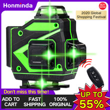 16 Lines 4D Green Laser Level Auto Self-Leveling 360 Horizontal And Vertical Cross Lines Wireless Remote powerful Green Laser Be