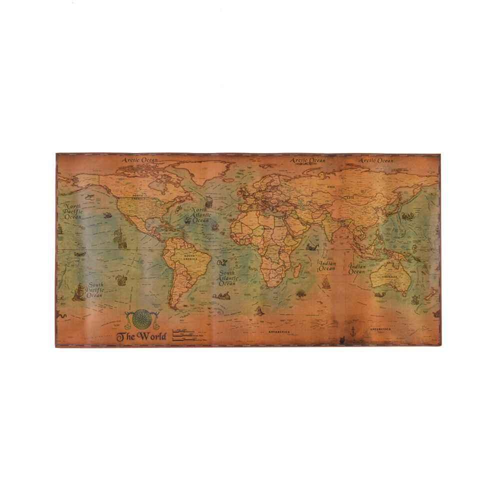 Nautical plakat Ocean Sea mapa świata Retro stary papier artystyczny malarstwo dekoracja domu ściany biurowe 100*50cm