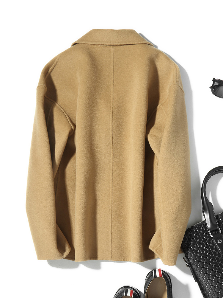 100%Wool Coat Short Spring Autumn Double-sided Jacket Men Coat And Jacket Man Overcoat Abrigo Hombre D-04-19511 KJ1040