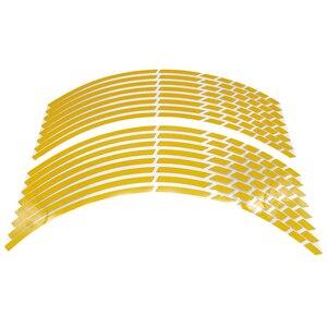 """Image 5 - Autocollants de pneus réfléchissants pour jantes de voiture et de voiture, autocollants pour Yamaha, Suzuki, Honda et kawasaki, 17 """"18"""" 19 """", 16 bandes"""