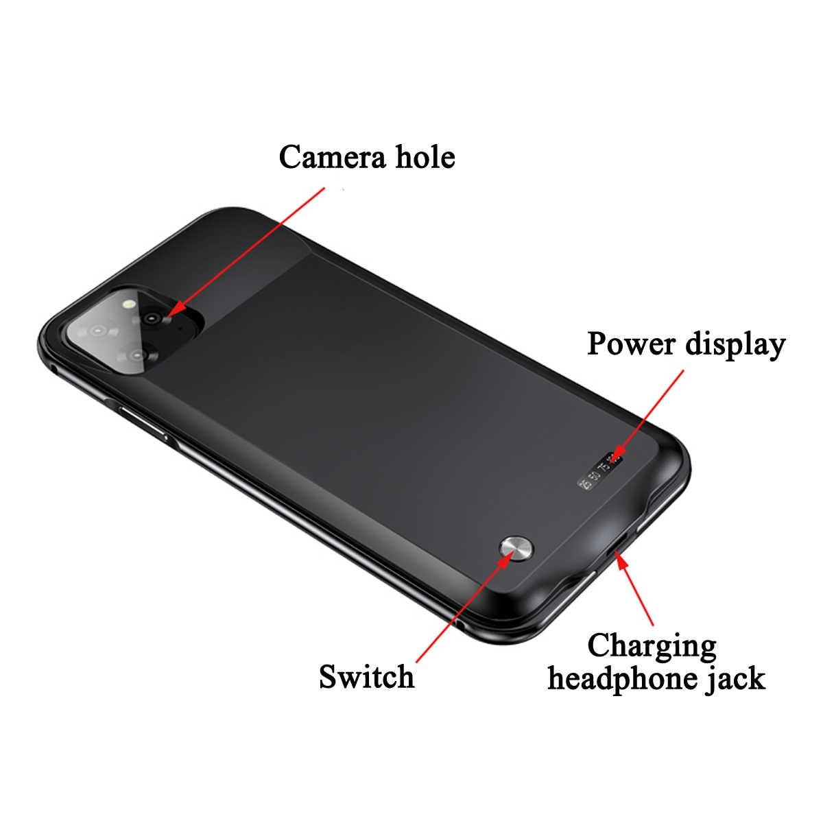 LEORY 5000mAh قوة البنك غطاء رقيقة الهاتف شحن البطارية حالة البطارية شاحن آيفون 11 6.1 ''/11pro ماكس 6.5 '/11pro 5.8''
