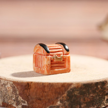 1PC Treasure Chest Figurine Miniature Cashbox Jewelry Box Pirate Adventure Game Doll House Ornament Mini Toys Home Decoration