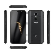 """AGM スマートフォンアンドロイド 8.1 4 グラム 64 グラム頑丈な電話 NFC 共同ブランディング 5.99 """"FHD 5400 2600mah IP68 指紋タイプ C クアッドコアボックススピーカー A9"""