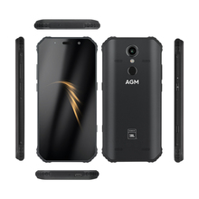 "AGM Smartphone Android 8.1 4G 64G  Rugged Phone NFC Co Branding 5.99"" FHD 5400mAh IP68 Fingerprint Type C Quad Box Speakers A9"