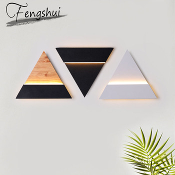 Modern LED Iron Acrylic Wall Lamp Lights For Home Triangle/Circle Wall Sconce Lamps Bedroom Living Room Aisle Bedside Wall Light