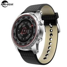 цена на KingWear KW99 PRO Smartwatch Phone Android 7.0 Men Watch MTK6580 Quad Core 16GB ROM Heart Rate Monitor 3G GPS Pedometer Business