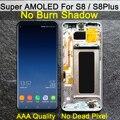 AAA الأصلي سوبر AMOLED S8 LCD مع الإطار لسامسونج غالاكسي S8 G950 G950F عرض S8 زائد G955 G955F محول الأرقام بشاشة تعمل بلمس