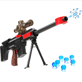 Boys Children Toy Splicing Gun Manual Water Bullet Gun Simulation Cosplay Toy with Infrared Sniper Gun Birthday Gift 520