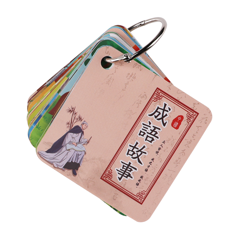 Idiom Story With Picture literacy Card Kindergarten Early Education cognitive learning card first Grade literacy card for Kids