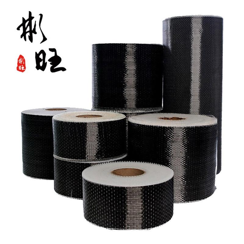 Углеродное волокно армированный бетон односторонняя ткань из углеродного волокна 12K усиление 12K 200 г, длина 1 м