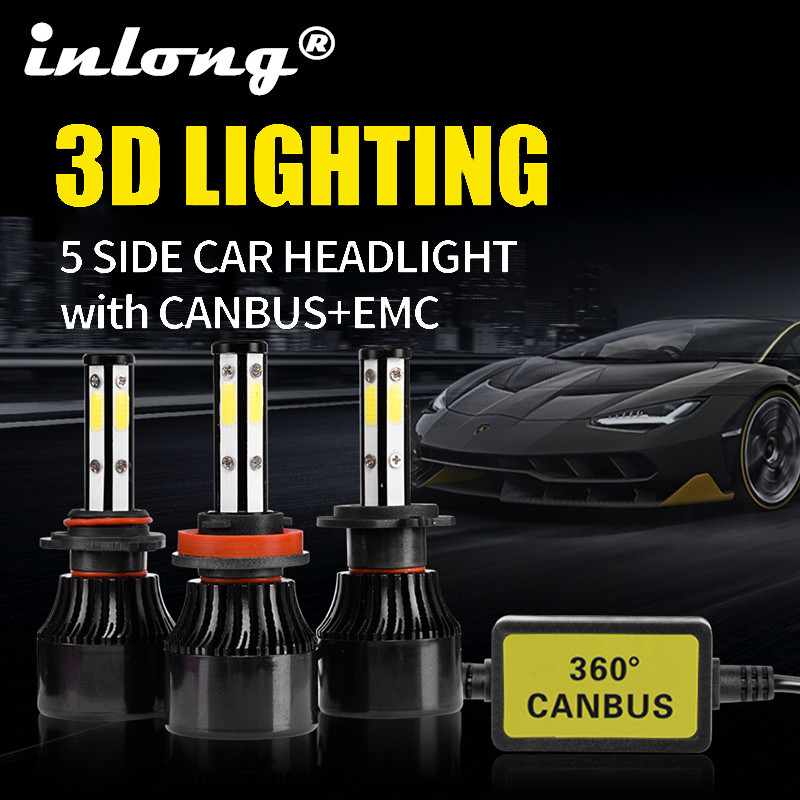 2Pcs 5 Sides 14000LM H7 Car <font><b>LED</b></font> <font><b>Headlight</b></font> No Error H11 <font><b>Led</b></font> Canbus Headlamp Bulbs <font><b>H4</b></font> H8 H9 9005 9006 <font><b>100W</b></font> Auto Fog Lights 12V 24V image