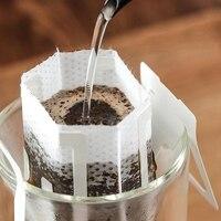 150 zestaw połączenie filtr do kawy torby i papier pakowy herbaty kawy torby do przechowywania  przenośny ekspres do kawy narzędzia filtr papierowy biuro w domu Tr w Filtry do kawy od Dom i ogród na