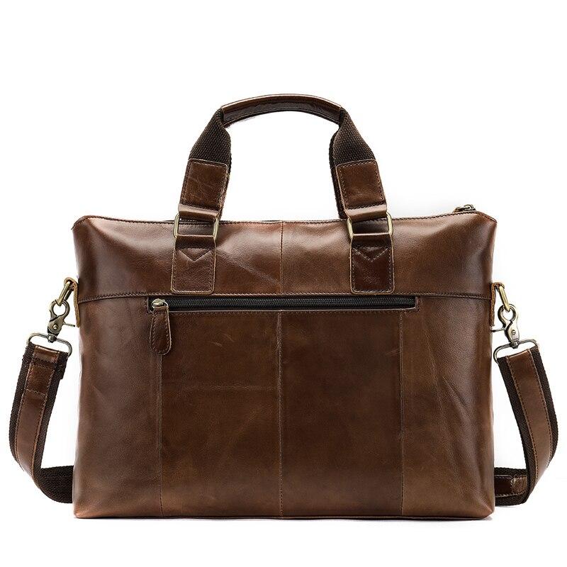 Genuine Leather Bag Business Men's Bags Laptop Tote Briefcases Crossbody Bags Shoulder Handbag Men's Messenger Bag 7108