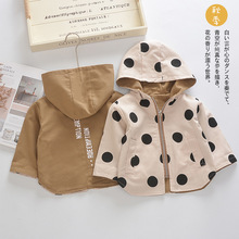 Baby Polka Dot 2 Side Wear Coat Toddler Girls Boys Autumn Spring Jacket