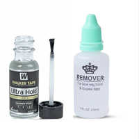 1 bottle 0.5oz Walker Ultra Hold adhesive glue with 1 bottle 1oz remover for lace wig glue