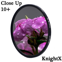 KnightX מאקרו מקרוב 10 + עדשת מסנן עבור Canon Nikon Sony dslr 200d d80 49mm 52mm 55mm 58mm 62mm 67mm 72mm 77mm
