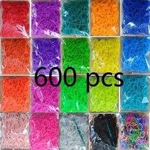Bracelets à tisser en caoutchouc colorés pour enfants ou cheveux, 600 pièces, bracelets tissés, bricolage, cadeau de noël 2020