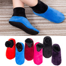 Warm Slippers Socks Thicken Winter Women Adult Fashion Short No Floor Fleece Double-Sided