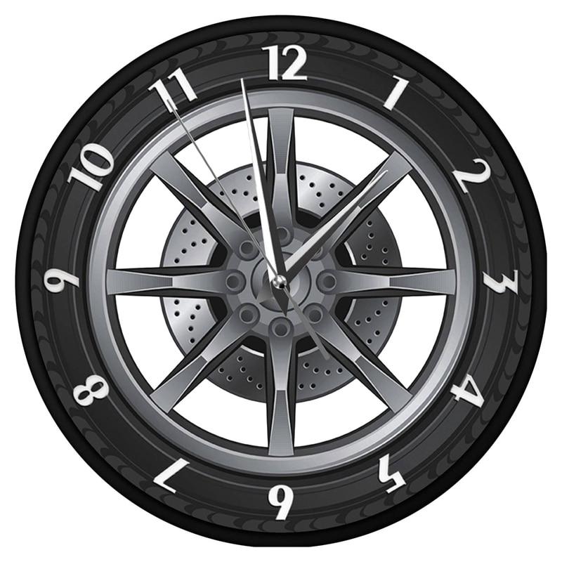 Car Service Repair Garage Owner Tire Wheel Custom Car Auto Wall Clock Watch|Wall Clocks|   -