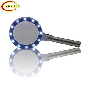 Handheld 12 LED Magnifier 10X