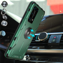 Metal Armor Protective Case Phone Shell Anti-knock Hard Cover Case for Huawei P