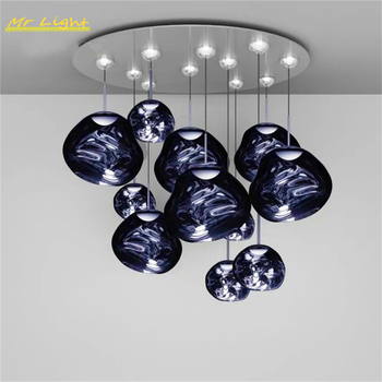 Modern LED Pendant Lights Lighting Cafe PVC Pendant Lamp Kitchen Hanging Lamps Villa Duplex Apartment Indoor Decor Luminaries