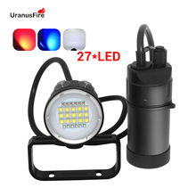 27 LED Canister Diving Video Light Waterproof 100m Underwater XM L2 Scuba Dive Torch