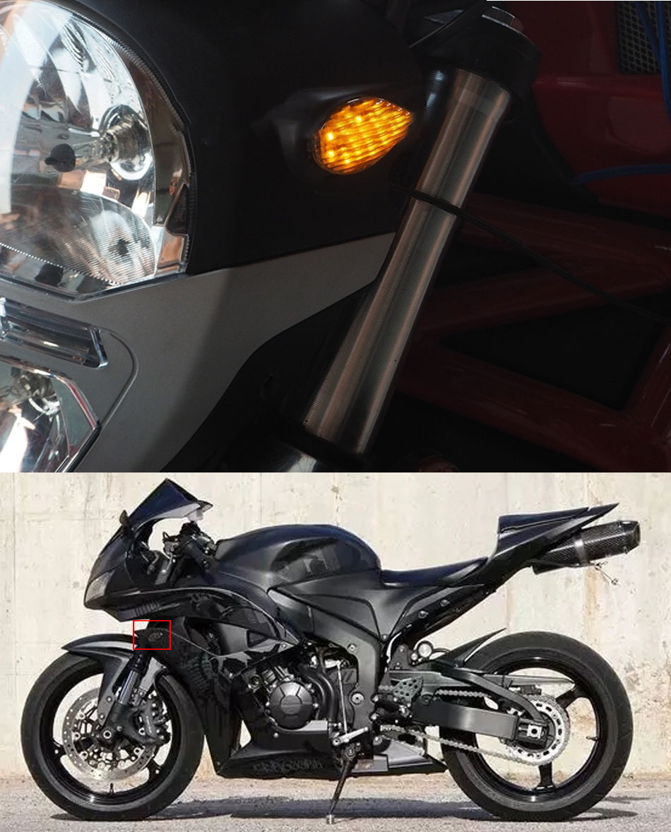 Eye Shape Flush Amber Front Rear Turn Signal Light Assembly for Honda Grom 2014-2016 Keenso 2 Pcs Motorcycle LED Turn Signals Light Kit