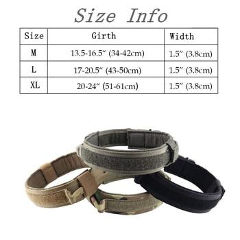 Dog collar nylon adjustable military tactical dog collars control handle training pet cat dog collar pet products