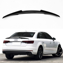 A4 B9 Carbon Fiber Car Rear Trunk lip spoiler wing For Audi A4 B9 2016UP M4 Style