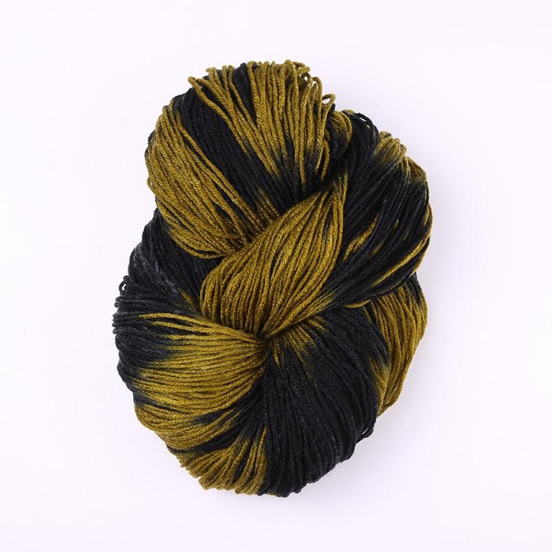 Окрашенная кричащая толстая пряжа с шерстью норки красочная акриловая пряжа с шерстью норки детские зимние свитера вязание мохер шерсть пряжа крючком иглы около 50 г