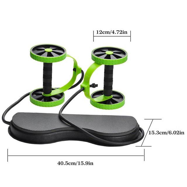 Abdominal Double Wheel Ab Roller  2