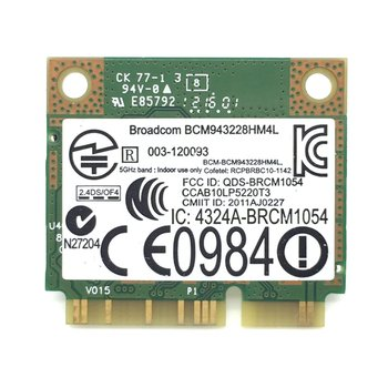 300mbps dual band wifi pci e adapter antennas wireless computer network pcie card 802 11a b g n 300m wifi wlan for desktop pc Dual Band 300Mbps BCM943228HMB 4.0 802.11a/b/g/n Wifi Wireless Card Half Mini PCI-E Notebook Wlan 2.4Ghz 5Ghz Adapter