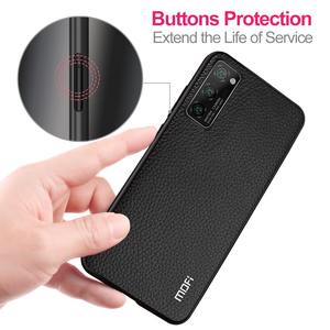 Image 4 - for Honor V30 Case V30Pro Cover for Huawei V30 Pro Case MOFi Silicone Shockproof Glass Capa PU Leather Coque