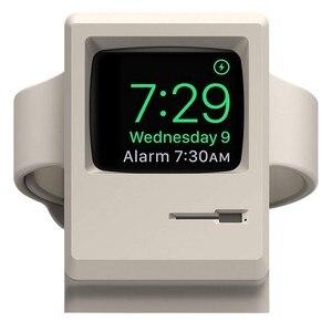Soporte W3 blanco Vintage para Apple Monitor, moda 2019, compatible con modo de soporte nocturno, gestión de Cable para Apple Watch Series 1 2 3