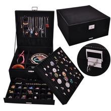 퀸 스타일 4 색 럭셔리 실용 플란넬 보석 상자 패션 쥬얼리 디스플레이 귀걸이 목걸이 펜던트 노벨 보석 상자