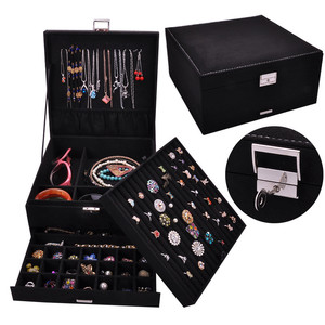 Image 1 - Joyero de lujo de estilo Queen en 4 colores, práctico joyero de franela, pendientes de exhibición de joyería a la moda, colgante de collar, joyería del Premio Nobel