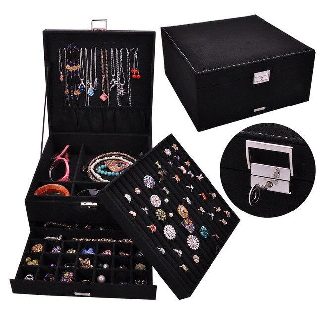 Joyero de lujo de estilo Queen en 4 colores, práctico joyero de franela, pendientes de exhibición de joyería a la moda, colgante de collar, joyería del Premio Nobel