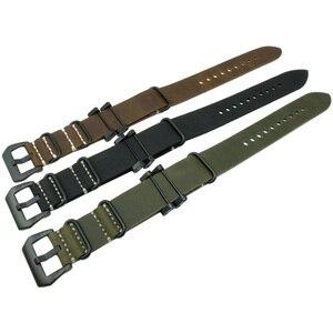 Image 3 - Crazy Horse pulsera de reloj militar de cuero genuino, banda y adaptadores para Suunto Core para Suunto TRAVERSE Series y herramienta
