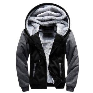 Image 4 - Hoodies dos homens inverno quente jaqueta moda grossa masculina com capuz moletom masculino pele quente roupas de treino dos homens casaco S 5XL tamanho