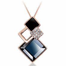 Новое простое и нежное ожерелье с подвеской в виде ромба s925